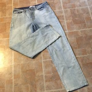 Tommy Hilfiger button fly white out jeans size 12